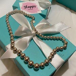 Tiffany & Co Hardwear bead ball necklace